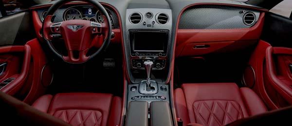 Yellow Ferrari Interior image